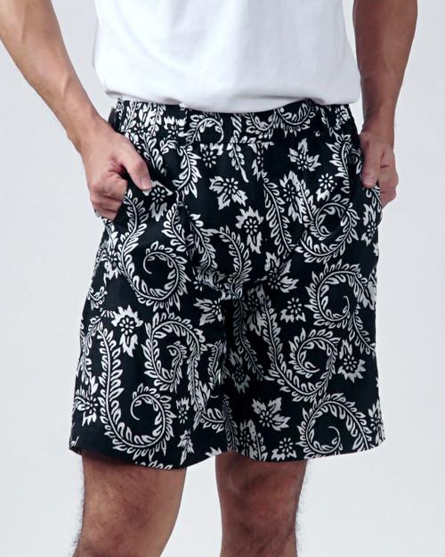 Half Pants - Dancing Fern in Black