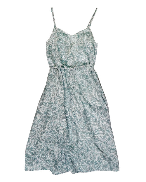 Camisole Dress - White Sulur on Gray