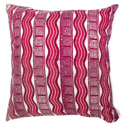 Cushion Cover (2 Pcs) - Pink Wave