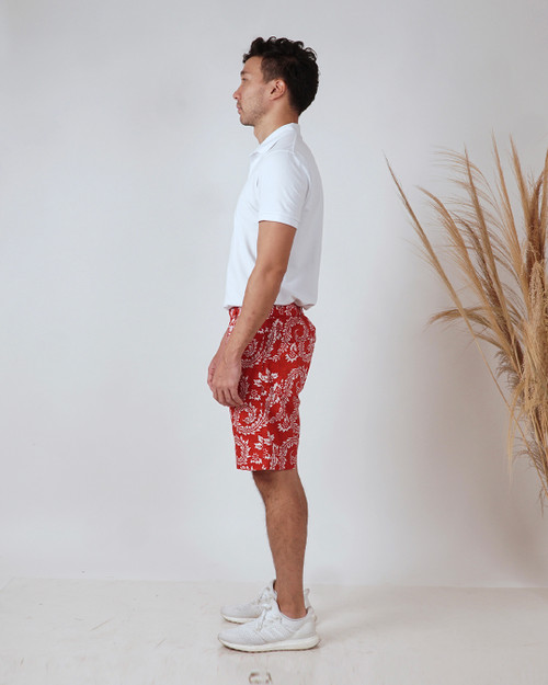 Half Pants - Dancing Fern in Red