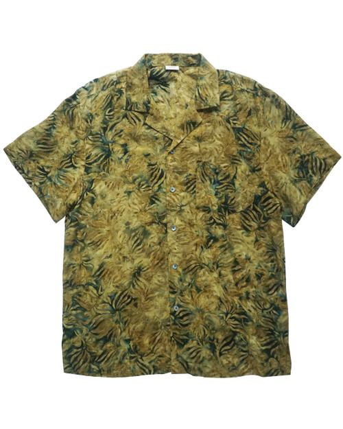 Women Aloha Shirt - Yellow  x  Green