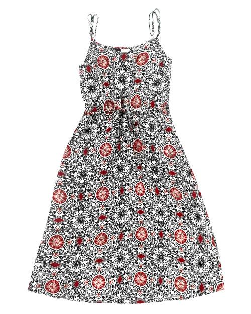 Camisole Dress - Red x Black