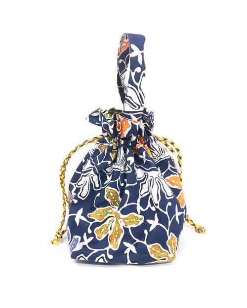 Lunch Bag Kinchaku - Blue Lotus