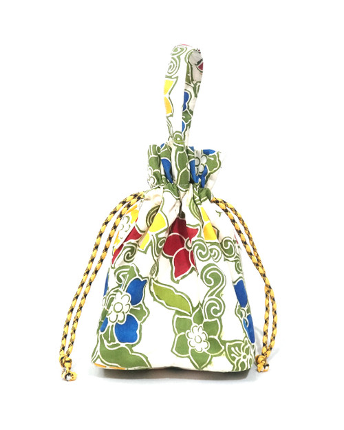 Lunch Bag Kinchaku - Dancing Flowers