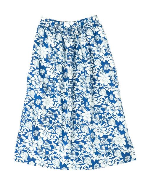 Gather Skirt - Blue Cempaka