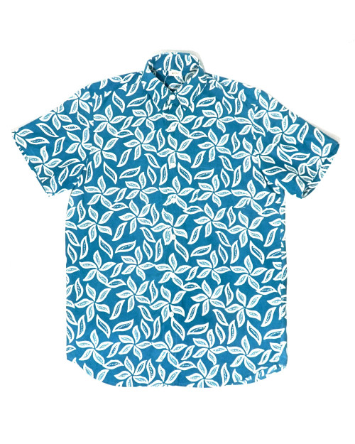 Casual Short Sleeves Shirt - Fall on Turquoise