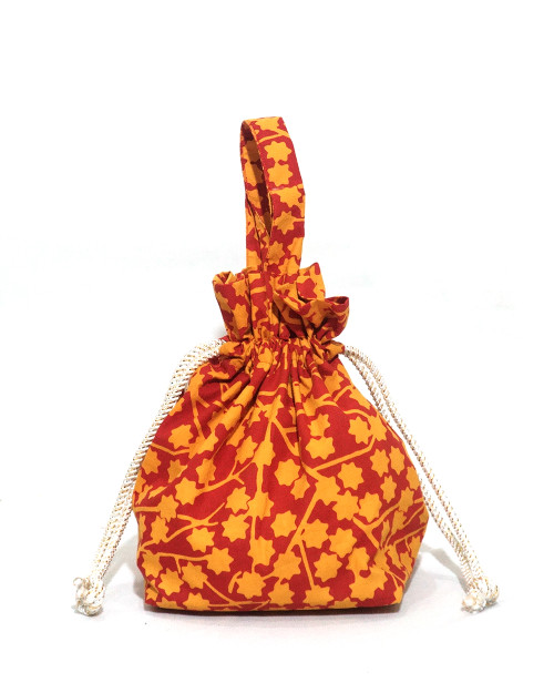 Lunch Bag Kinchaku - Flaming Stars