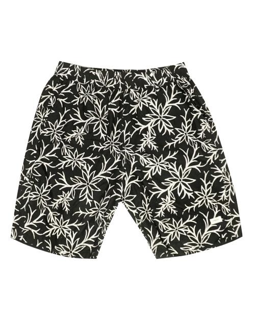 Half Pants - Summer Blooms on Black