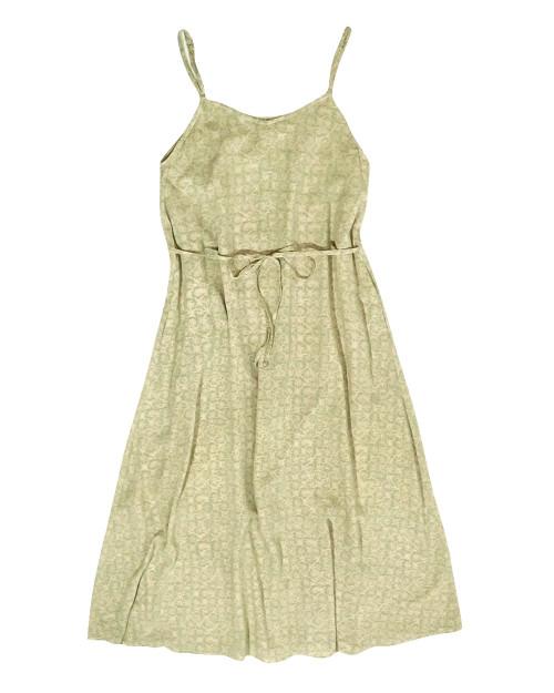 Camisole Dress - Summer Jasmine on Green