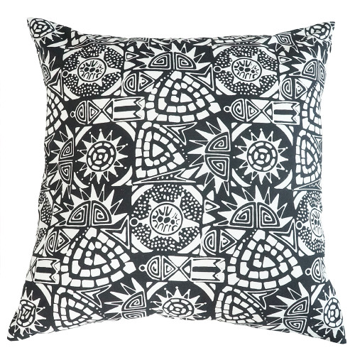Cushion Cover (2 Pcs) - Asmat in Monochrome