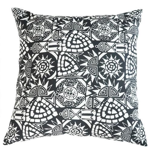 Cushion Cover (2 Pcs) - Asmat in Monochrome
