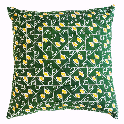 Cushion Cover (2 Pcs) - Ginkgo on Green