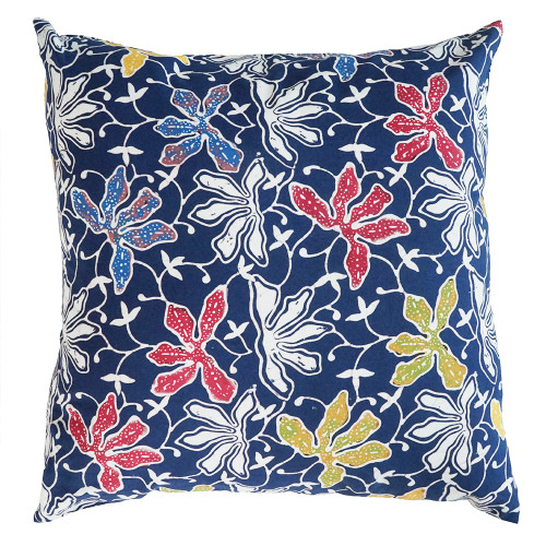 Cushion Cover (2 Pcs) - Lotus on Blue