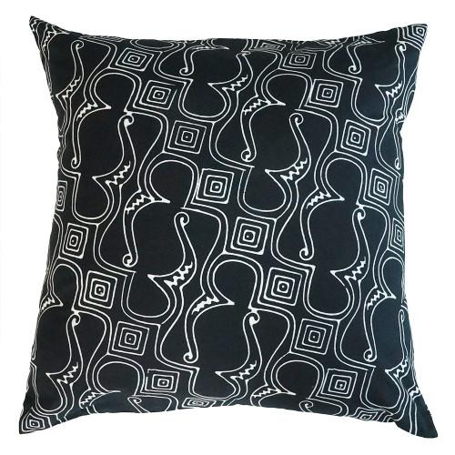 Cushion Cover (2 Pcs) - Black Parang Bagong
