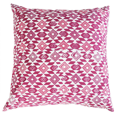 Cushion Cover (2 Pcs) - Diamond Eye on Pink