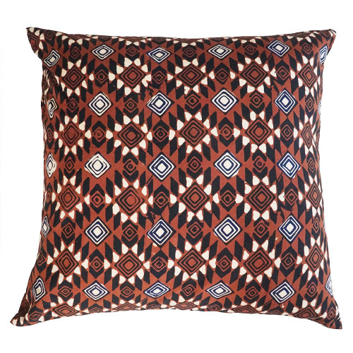 Cushion Cover (2 Pcs) - Diamond Eye on Brown