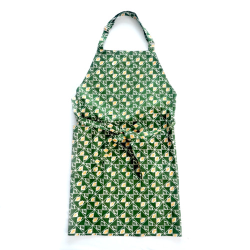 Apron - Ginkgo on Green
