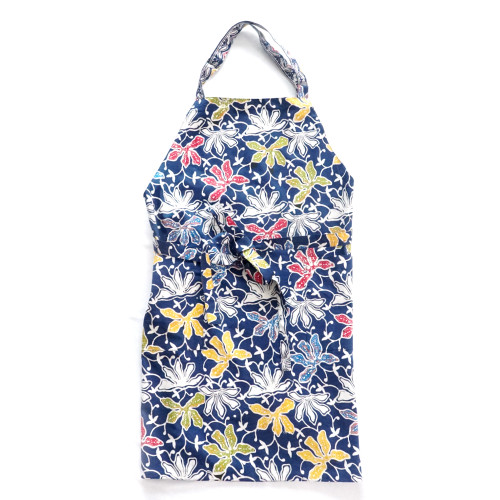 Apron - Lotus on Blue