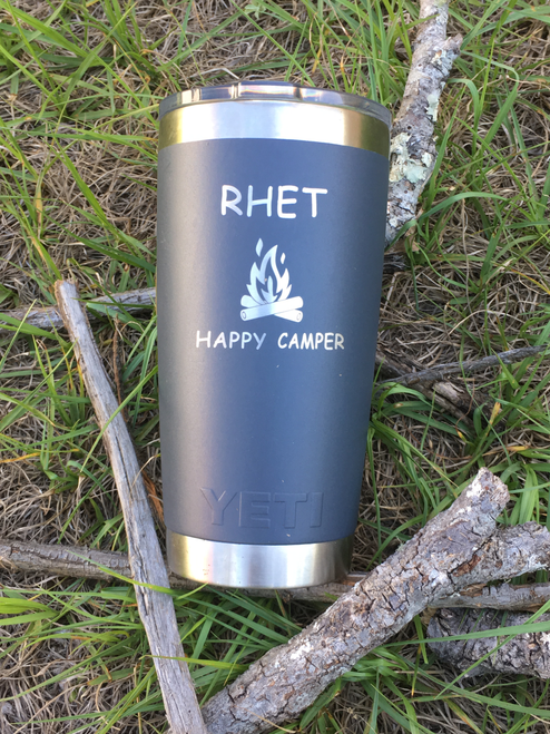 Laser etched tumblers from