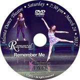 Atlanta Dance Theatre Rapunzel and Remember Me: Saturday 3/24/2012 7:30pm DVD