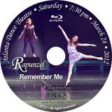 Atlanta Dance Theatre Rapunzel and Remember Me: Saturday 3/24/2012 7:30pm Blu-ray