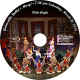 Gainesville Ballet Mary! 2015: Sat 3/21/2015 7:30 pm Wide angle only Blu-ray