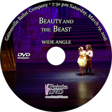 Gainesville Ballet Beauty and the Beast 2016: Saturday 3/19/2016 7:30 pm Wide angle only DVD