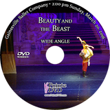 Gainesville Ballet Beauty and the Beast 2016: Sunday 3/20/2016 2:00 pm Wide angle only DVD