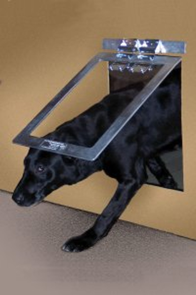 Heavy Duty Dog Door®  Unique two-way design.