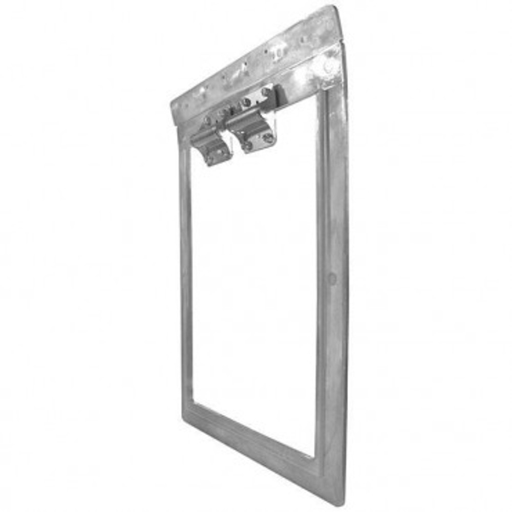 Weather Tight Seal - Exterior panel and metal frame hinges on mounting bar