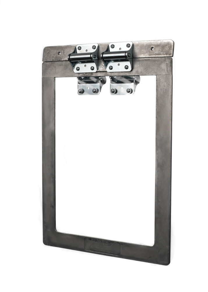 Weather Tight Seal - Interior panel hinges on aluminum frame for re-entry