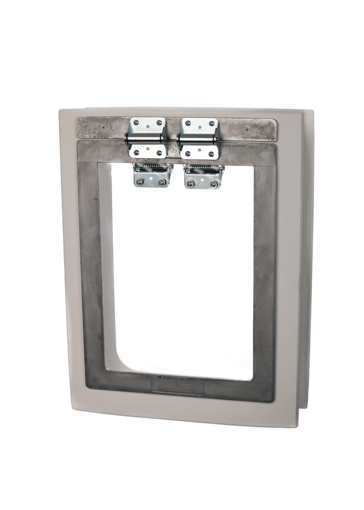 PVC Wall Trim Kit with Heavy Duty Dog Door installed (Heavy Duty Dog Door is sold separately)