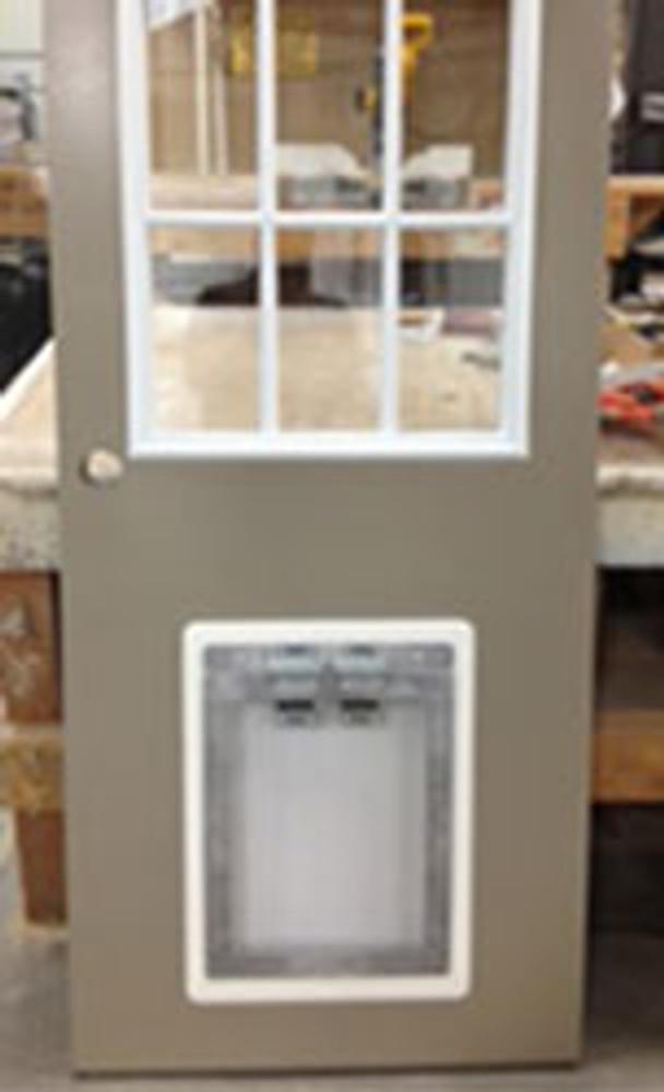 PVC Trim Kit installed with door (door not included)