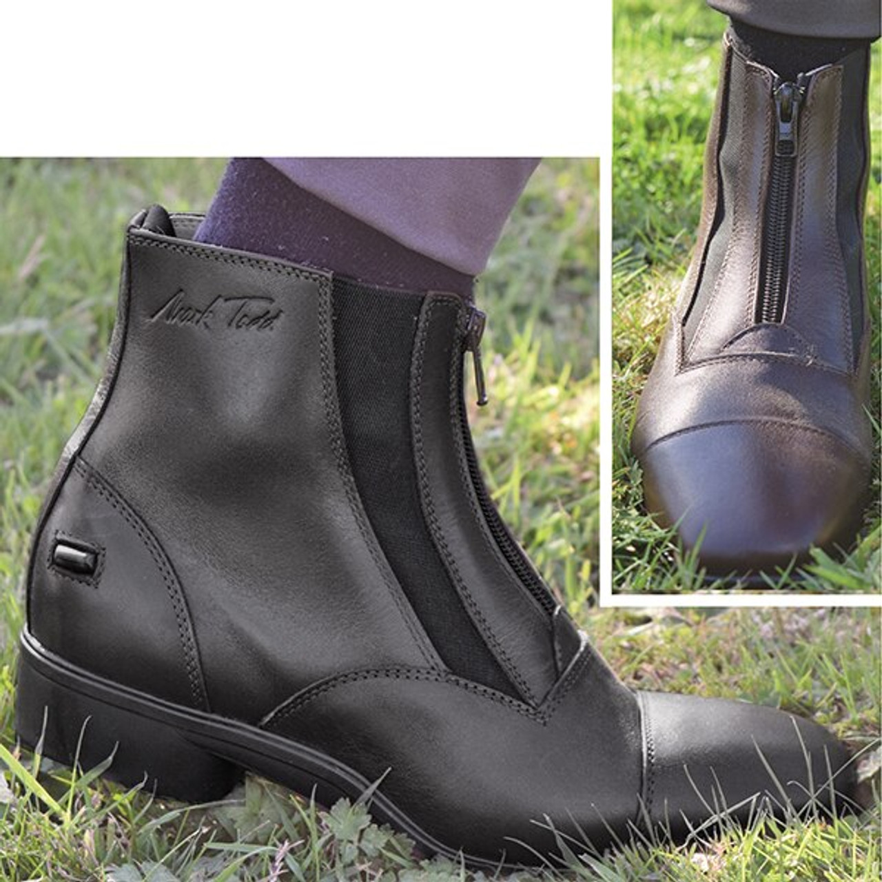 7b4fcd20be2b Mark Todd Timaru Dual Elastic Short Riding Boot - Black - HOOVES AND BOONIES