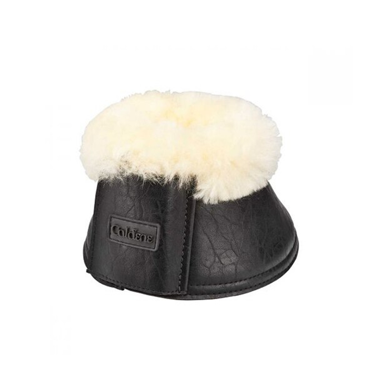 Rhinegold Sheepskin Trim Patent Over Reach Boots