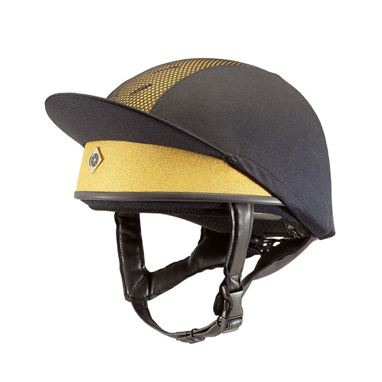 7157792a65d02 Charles Owen PRO II Skull Cap Riding Hat Childrens - Gold - HOOVES AND  BOONIES