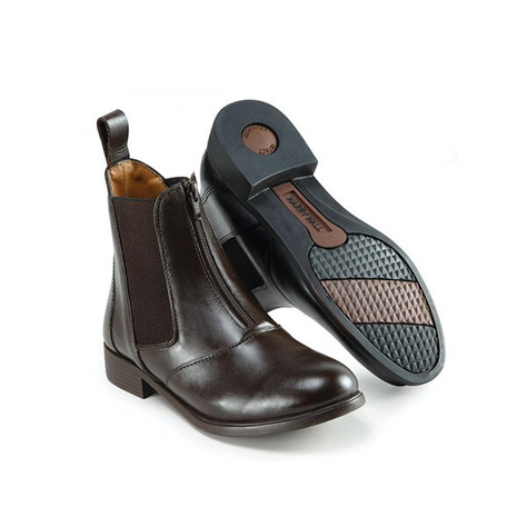 Harry Hall Hartford Jodhpur Boots Zip Front Ladies Brown