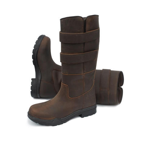 c99f6bdbdac Rhinegold Tec - Steel Toe Unisex Safety Boots - Brown - HOOVES AND ...