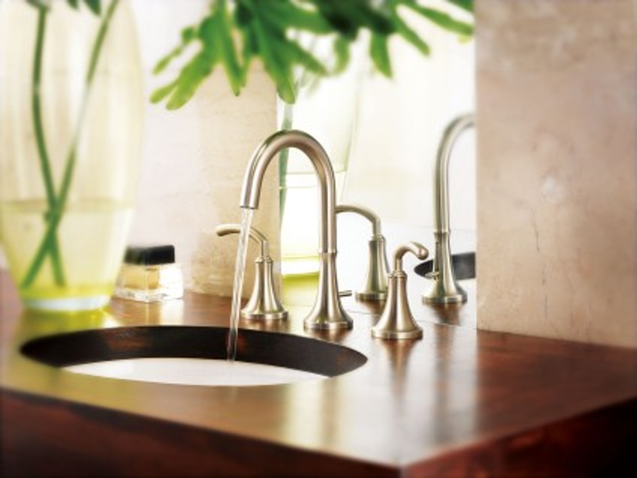 Moen TS6520 Icon Two-Handle High Arc Bathroom Faucet without Valve Chrome