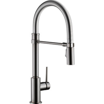 Delta - Trinsic Single Handle Pull-Down Kitchen Faucet With Spring Spout