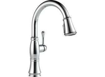 Delta - Cassidy Single Handle Pull-Down Kitchen Faucet with Touch2O and ShieldSpray Technologies