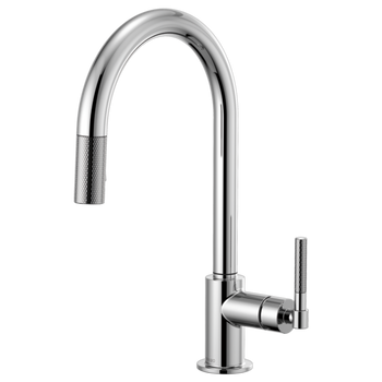 Brizo - Litze Pull-Down Faucet with ARC Spout and Knurled/Industrial Handle