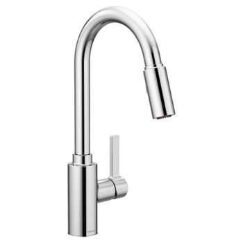 Moen - Genta One-Handle High Arc Kitchen Faucet