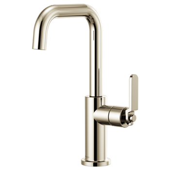 Brizo - Litze Bar Faucet with Square Spout and Knurled/Industrial Handle
