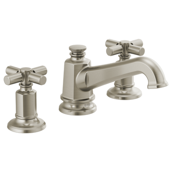 Brizo - Invari Widespread Lav Faucet with Angled Spout Less Handles