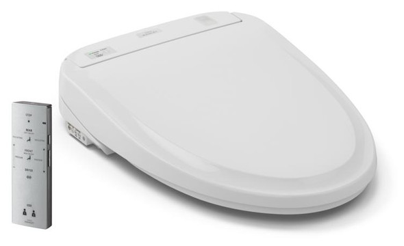 Toto - Washlet S300e Solid Plastic Round Closed Front Toilet Seat