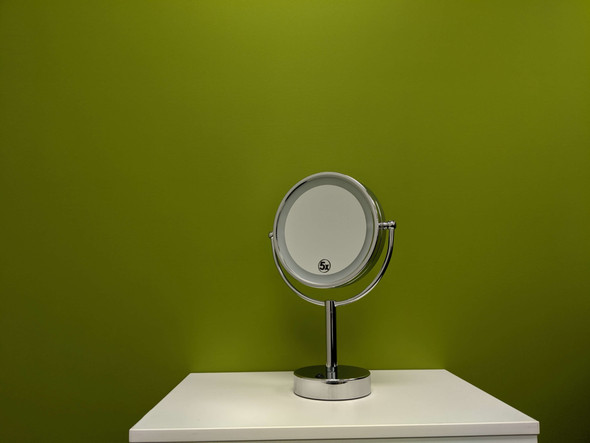 "Volkano - 8.5"" Double Sided Lighted Free-Standing Mirror"