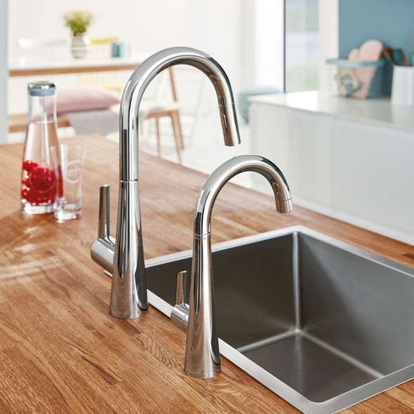 Grohe - LadyLux L2 Single-Handle Pull Down Dual Spray Prep Faucet