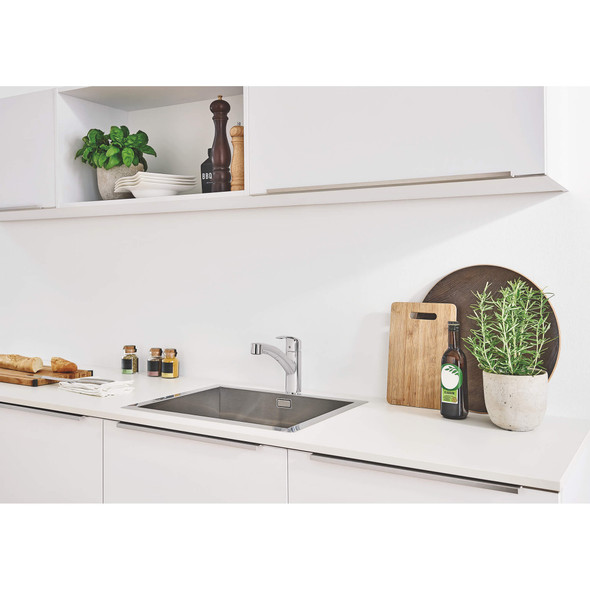 Grohe - Eurosmart® Single Handle Pull-Out Kitchen Faucet Dual Spray