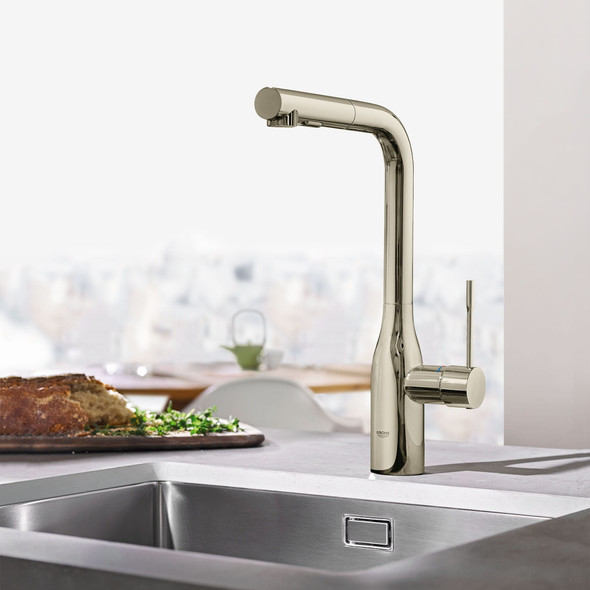 Grohe - Essence New Single-Handle Pull-Out Kitchen Faucet Dual Spray
